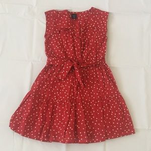 EUC Girl's Gap dress, red with white stars